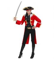 Red Pirate Captain Woman Costume (73704)